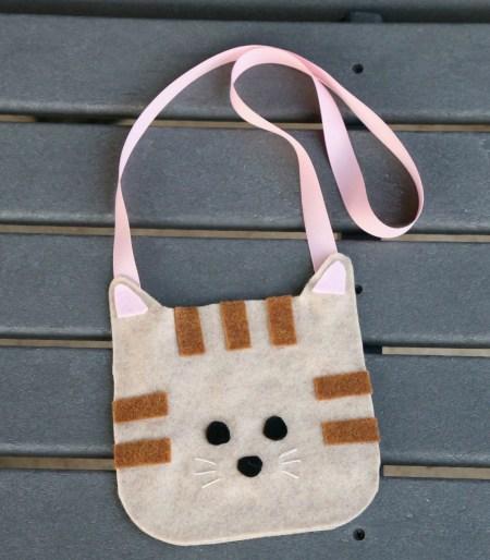 Cute cat purse