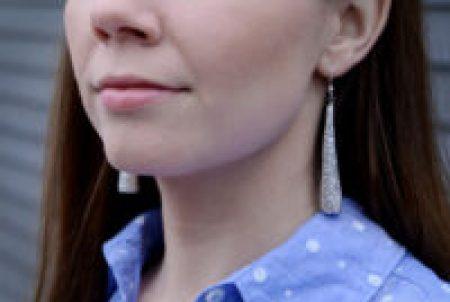 Diy beautiful glitter earrings