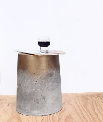 Diy concrete side table or stool Suit DIY Side Table Ideas To Win Your Heart