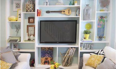 Diy custom built-in bookcase