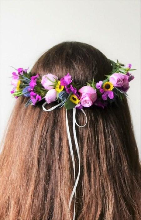 Diy flower crown for spring