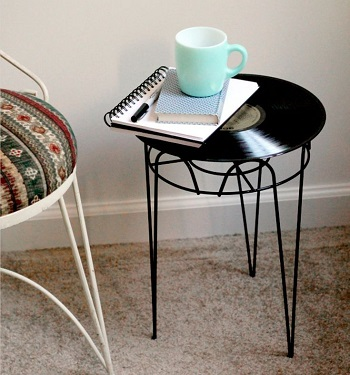 Diy record side table Suit DIY Side Table Ideas To Win Your Heart