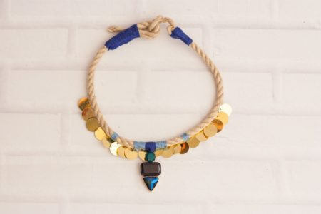 Diy rope statement necklace