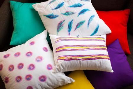 Diy watercolor-inspired throw pillows
