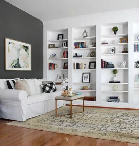 Ikea hack built-in bookcase
