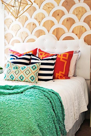 Scallop wall Beginner-Appropriate DIY Project To Refresh Your Home Decoration