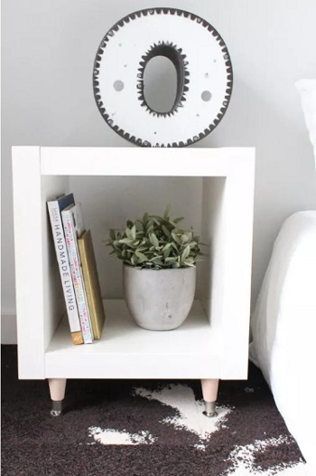 Simple diy ikea hack side table Suit DIY Side Table Ideas To Win Your Heart