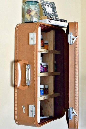Unbelievable DIY Ideas To Reuse Your Old Suitcases