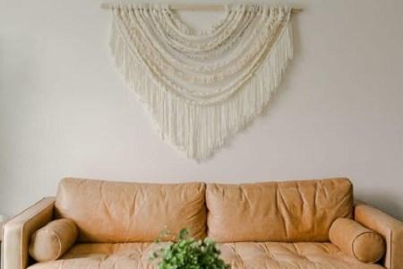 Braided macrame hanging wall
