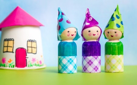 Cute dolls from woods