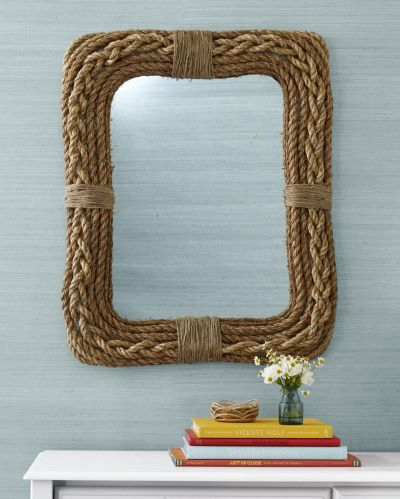 Diy mirror with rope