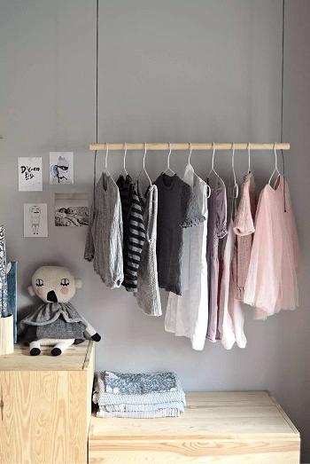 Hanging clothes rack Garment Rack Ideas To Keep Entire Wardrobe Organized
