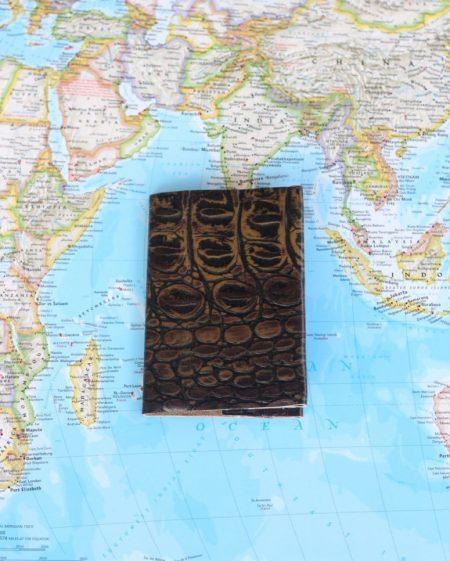 Passport holder with texture