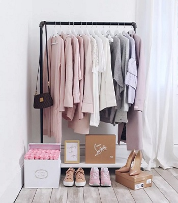 Rolling clothes rack Garment Rack Ideas To Keep Entire Wardrobe Organized