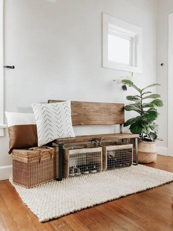 Simple diy mudroom bench in an entryway DIY Inevitable Mudroom Ideas To Have An Instant Spare Room