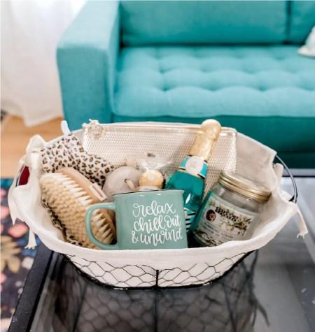 Thrift store basket gift