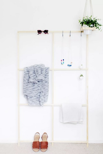 Trellis clothes rack Garment Rack Ideas To Keep Entire Wardrobe Organized