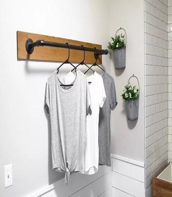 Wall-mounted clothes rack Garment Rack Ideas To Keep Entire Wardrobe Organized