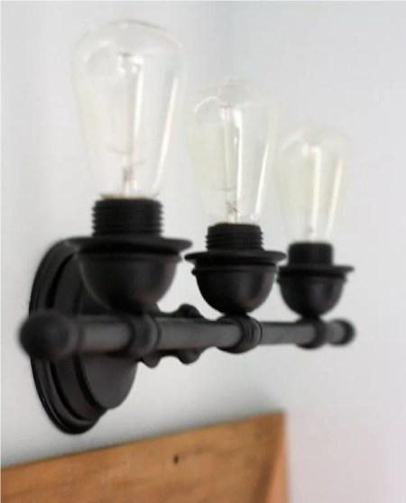 With a builder-grade light fixture