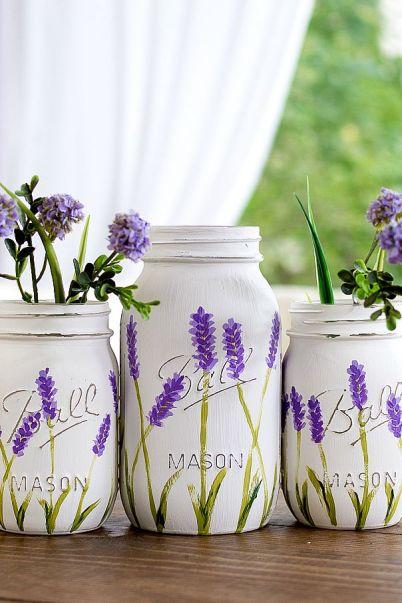 Painted lavender flowers
