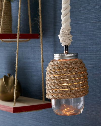 Simple diy hanging lamp