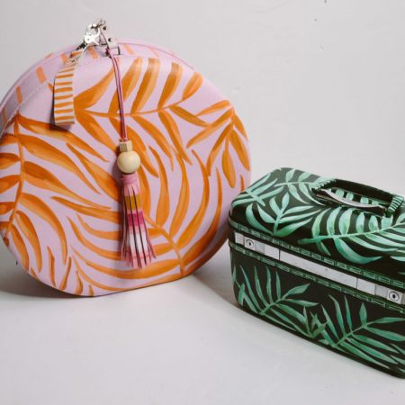 Suitcases with botanical prints