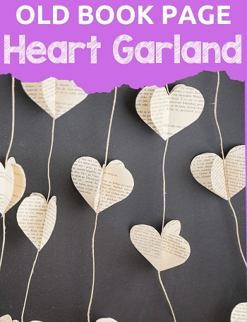 Lovely Country Style DIY Paper Heart Garland