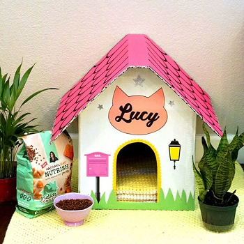 Cardboard house DIY Highly Striking And Safety Cat House Ideas