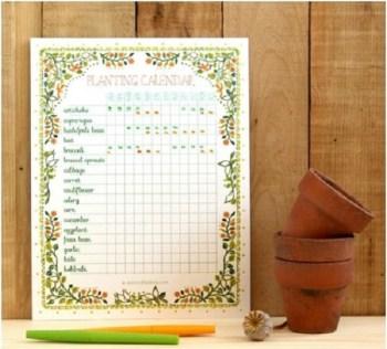 Cool diy planting calendar