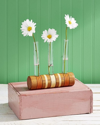 Croquet mallet bud vase DIY Glorious Craft Projects You Cannot Miss To Get Summer Seasonal Spirit