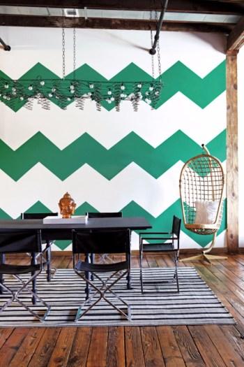 Diy emerald chevron wall paint