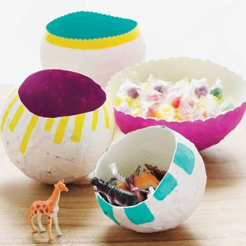Diy paper mache balloon bowl