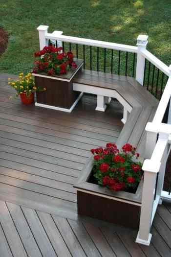 Diy square planter bench