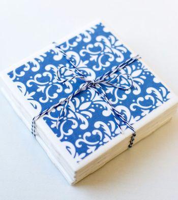 Diy tile coasters with elegant patterns