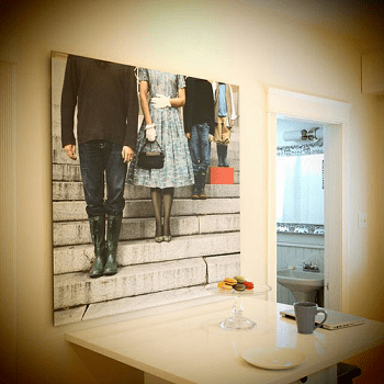 Neck down family portrait DIY Unconventional Ideas To Display Your Family Photos