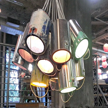 Paint can chandelier DIY Enchanting Ideas To Create More Light In Your Home