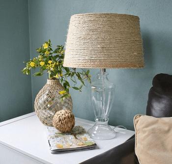 Sisal lamp shade beach home décor DIY Long-lasting Decoration Ideas With Coastal Home Accessories