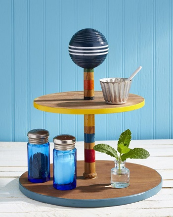 Tiered stand DIY Glorious Craft Projects You Cannot Miss To Get Summer Seasonal Spirit