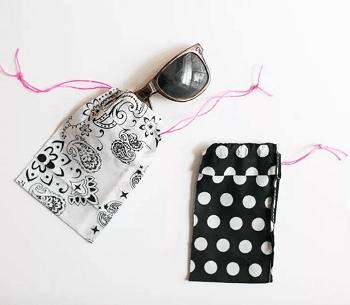Bandana sunglasses case Skillful Ideas You Can Do With Your Simple Bandana