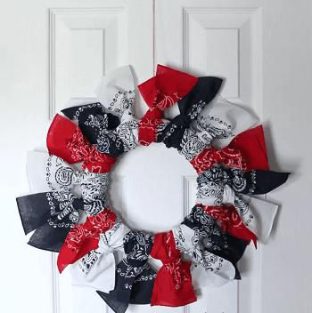 Bandana wreath Skillful Ideas You Can Do With Your Simple Bandana