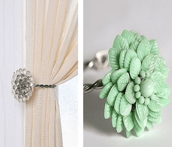 Curtain holder Special Ways To Use Napkin Ring As Your DIY Project