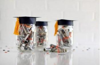Diy dollar diplomas gift jar