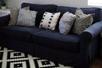 Diy dyed sofa slipcover