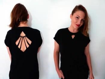 Diy geometric cut-out shirt - copy