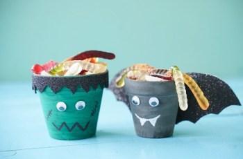 Diy halloween characters pot