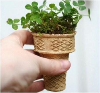 Diy ice cream cone seed starters