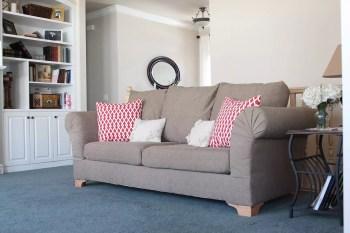 Diy reupholstered sofa cover