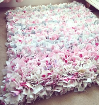 Diy rug from old bedding