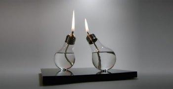 Diy rustic oil lamp