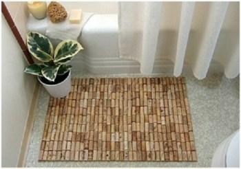 Diy wine cork bath mat